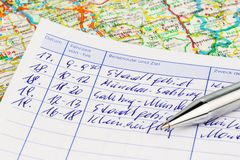 Logbook for car Royalty Free Stock Photos