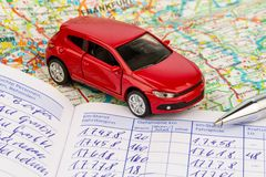 Logbook for car Royalty Free Stock Photo