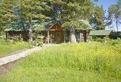 Loge av den Taft ranchen i den hundraårs- dalen, Lakeview, MT Fotografering för Bildbyråer