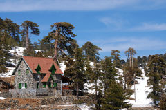 Loge chez Troodos Chypre Image stock