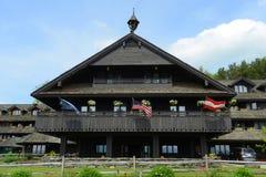 Loge de famille de Trapp, Stowe, Vermont, Etats-Unis photos stock