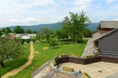 Loge de famille de Trapp, Stowe, Vermont, Etats-Unis image libre de droits
