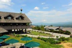 Loge de famille de Trapp, Stowe, Vermont, Etats-Unis images stock