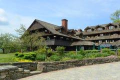Loge de famille de Trapp, Stowe, Vermont, Etats-Unis image stock