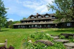 Loge de famille de Trapp, Stowe, Vermont, Etats-Unis photo stock