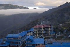 Loge de Ghorepani en Himalaya Images libres de droits