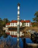 Loge de l'eau au lac Mattamuskeet Photo libre de droits