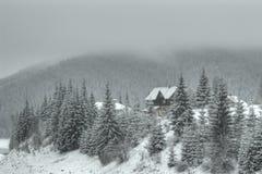 Loge de montagne Photographie stock