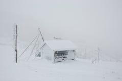 Loge du remorquage de ski Photos stock