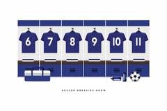 Loge för Japan fotboll- eller fotbolllag royaltyfri illustrationer