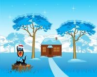 Loge i trä stock illustrationer