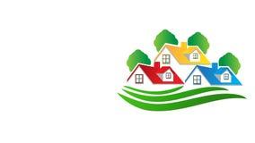 Loge la longueur de clip vidéo d'image d'immobiliers banque de vidéos