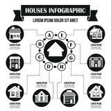 Loge le concept infographic, style simple Photos stock
