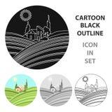 Loge med vingårdsymbolen i tecknad filmstil som isoleras på vit bakgrund royaltyfri illustrationer