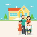 Logement accessible pour des personnes avec les besoins spéciaux illustration de vecteur