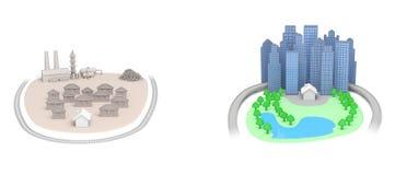 Logement d'immobiliers illustration stock