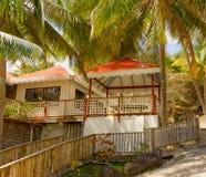 Logement de bord de mer dans les Caraïbe Photo libre de droits