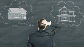 Logement, immobiliers et concept de choix Image libre de droits