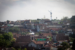Logement urbain pauvre Semarang rentré par photo Indonésie de ville Photo stock