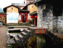 Logement vernaculaire de village chinois Images libres de droits