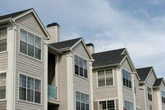 Logements américains de townhomes photo stock