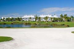 Logements de terrain de golf images libres de droits