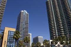 Logements du centre et détail de San Diego Image stock