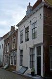 Logez la façade dans la vieille ville de Middelbourg aux Pays-Bas Image stock