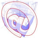 Logez le cadre avec des dimensions et envoyez le diagramme de signe Illustration Libre de Droits