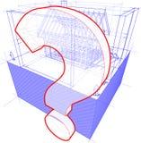Logez le cadre avec le diagramme de dimensions et de point d'interrogation Illustration de Vecteur