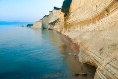 Loggas beach (Peroulades beach, Sunset beach) Corfu Island, Gree Stock Image