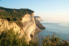 Loggas beach (Peroulades beach, Sunset beach) Corfu Island, Gree Royalty Free Stock Images