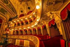 Logge croate del teatro nazionale immagine stock libera da diritti