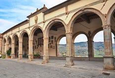 Logge del Vasari in Castiglion Fiorentino, Arezzo, Toscanië, Ital Royalty-vrije Stock Afbeeldingen
