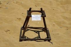 Loggerhead sea turtle nest (Caretta Caretta) Royalty Free Stock Image