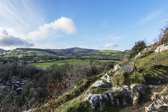 Loggerheads Country Park North Wales. A view from the top of the cliffs at loggerheads country park Stock Image