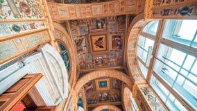 Loggia του Raphael στην οικοδόμηση του μουσείου ερημητηρίων απόθεμα βίντεο