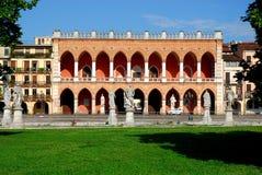 Loggia Amulea in Prato della Valle in Padua in the Veneto (Italy) Royalty Free Stock Image