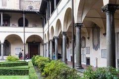 Loggia in Basilica di San Lorenzo in Florence Stock Image