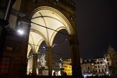 Loggia dei Lanzi by night Royalty Free Stock Photos