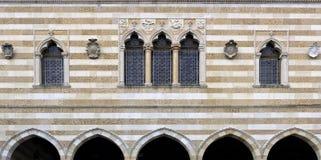 Loggia del Lionello - construção gótico Venetian do estilo fotos de stock royalty free