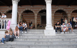 Loggia del Lionello Steps, Udine Stock Photo