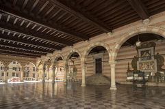 Loggia del Lionello. The 15th century Loggia del Lionello in in Liberty Square  in Udine Italy. This was built between 1448 and 1457 in Venetian-Gothic style Stock Image
