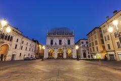 Loggia della La (municipio) a Brescia, Fotografia Stock Libera da Diritti