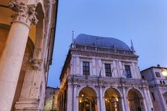 Loggia della La (municipio) a Brescia, Immagini Stock Libere da Diritti