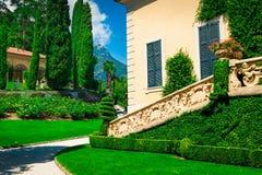Loggia di Balbianello villa Balbianello Arkivfoto