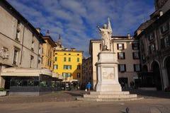 Loggia di della piazza, Brescia, Lombardia, Italia fotografia stock libera da diritti