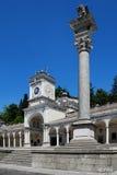 Loggia di San Giovanni with Foreground Lion Statue Stock Image