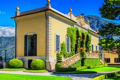 Loggia di Villa del Balbianello, Como lake, Italy. Several feature films have used the villa as location shooting, including A Month by the Lake, Casino Royale Stock Photos