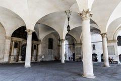 Loggia do della de Palazzo, Bríxia, Itália foto de stock royalty free